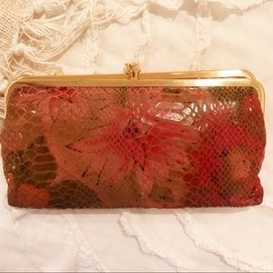 Floral Hobo Clutch Wallet
